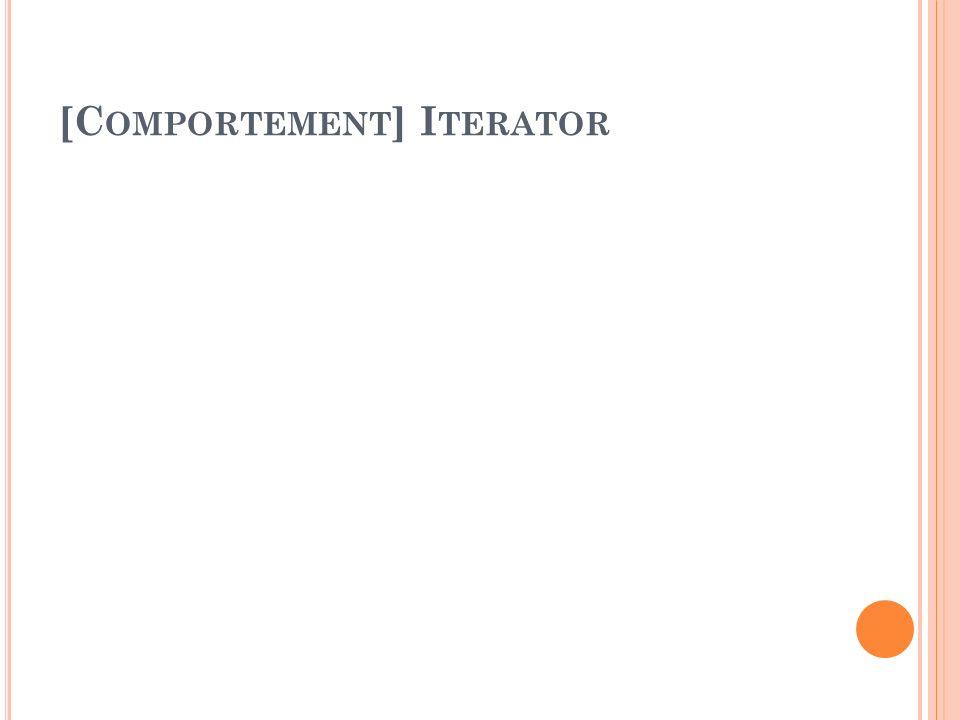 [Comportement] Iterator